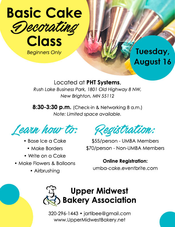Cake Decorating Classes Mn : Basic Cake Decorating Class   Aug. 2016